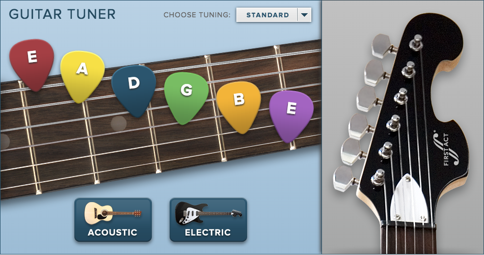 guitar tuner apps first act. Black Bedroom Furniture Sets. Home Design Ideas