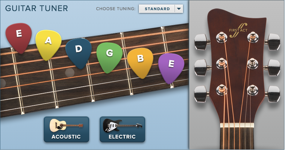 Guitar Tuner Apps First Act