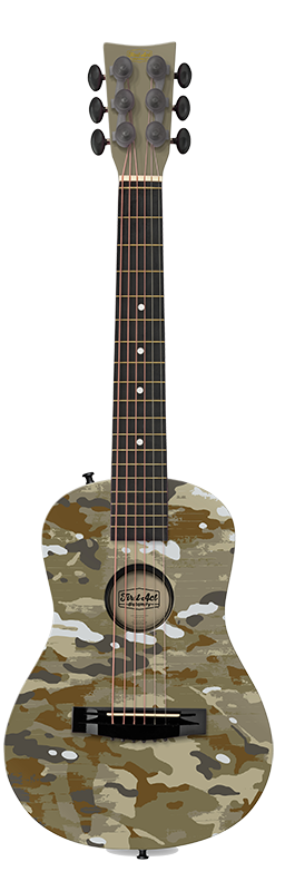 Green Camo 30 Acoustic Guitar