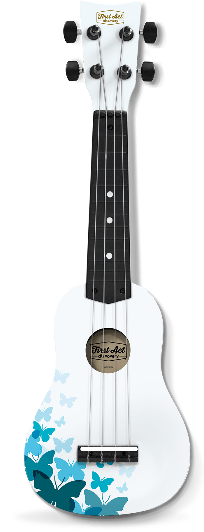 Soprano Ukulele in White | First Act Discovery Image