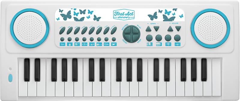 37 Key Keyboard - White | First Act Discovery Image