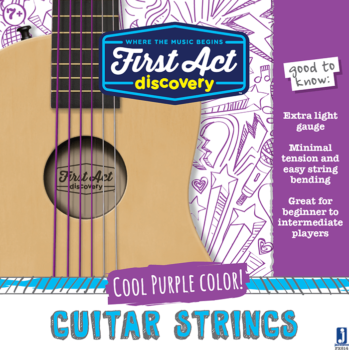 Acoustic Guitar Strings - Plum | First Act Discovery Image
