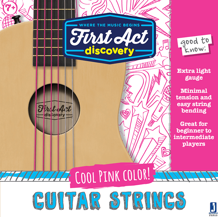 Acoustic Guitar Strings - Pink | First Act Discovery Image