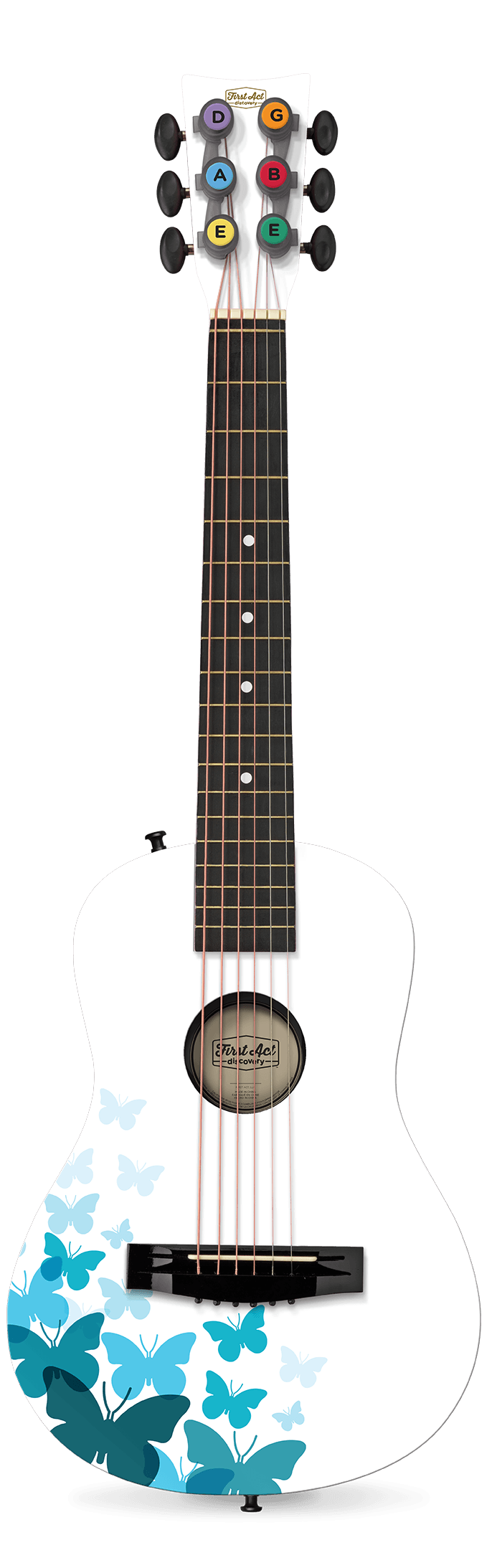 "White Butterfly 30"" Acoustic Guitar 