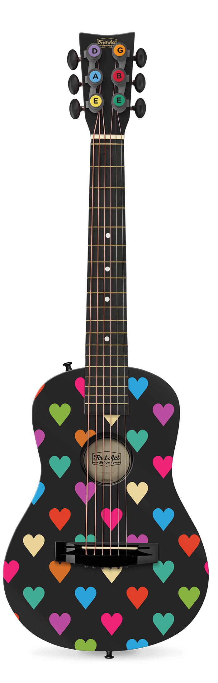 "Black Hearts 30"" Acoustic Guitar 