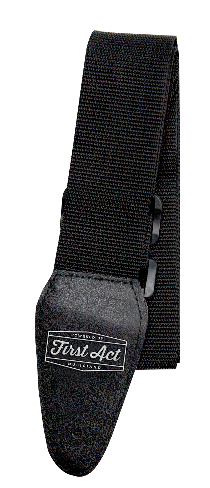 Black Guitar Strap Adjustable. Fits most types of guitars. | First Act Image