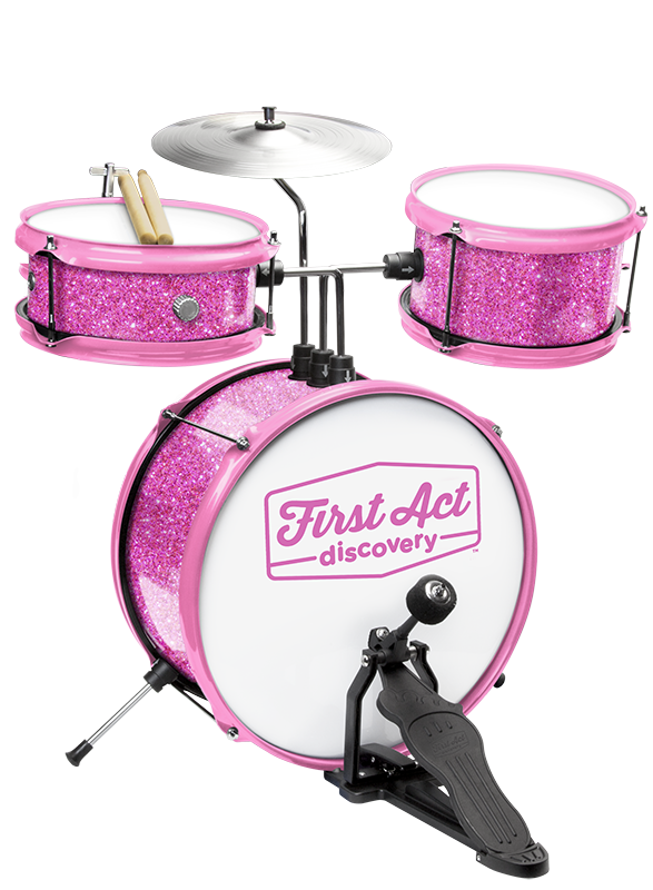 Pink Glitter Drum Set | First Act Discovery Image