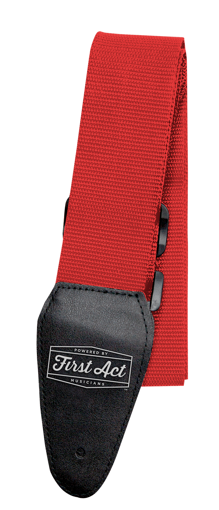 Red Guitar Strap Adjustable. Fits most types of guitars. | First Act Image