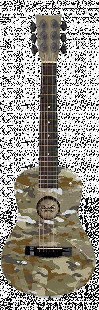 "Green Camo 30"" Acoustic Guitar Thumbnail"