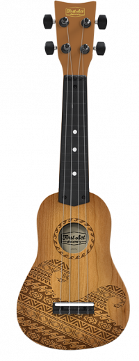 Teak Tribal Wave Ukulele Thumbnail