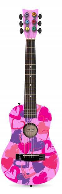 """Pink Hearts 30"""" Acoustic Guitar   First Act Discovery Thumbnail"""