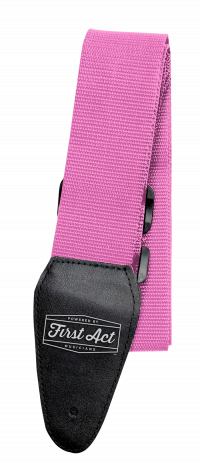 Pink Guitar Strap Adjustable. Fits most types of guitars. | First Act Thumbnail