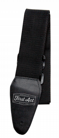Black Guitar Strap Adjustable. Fits most types of guitars. | First Act Thumbnail