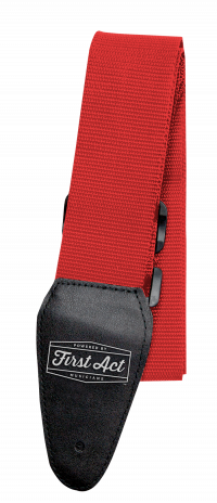 Red Guitar Strap Adjustable. Fits most types of guitars. | First Act Thumbnail