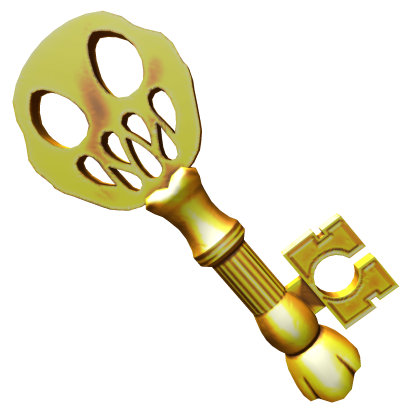 Giant Golden Skeleton Key